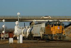 Solo Shot SD40 (Jeff Carlson_82) Tags: up ks emd sd40n sd402 unionpacific topeka lmc40 local 1976 kansas train railfan railroad railway mp67