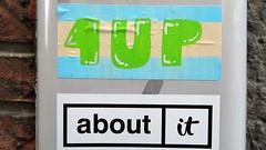 1UP / Mons - 28 dec 2019 (Ferdinand 'Ferre' Feys) Tags: mons bergen belgium belgique belgië streetart artdelarue graffitiart graffiti graff urbanart urbanarte arteurbano ferdinandfeys sticker