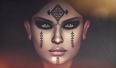 Berber / amazigh woman (Lina Kira) Tags: sl secondlife ethnic virtual berber amazigh morocco moroccan tattoo avatar avi autoportrait closeup