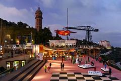 Parc d'Atraccions Tibidabo (Jorge Franganillo) Tags: parcdatraccionstibidabo barcelona catalunya cataluña españa spain lunapark amusementpark tibidabo parquedeatracciones parcdatraccions bluehour horaazul avión