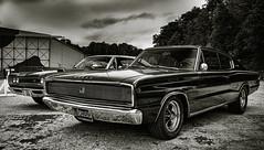 dodge duet (Simon[L]) Tags: cars classic dodge mopar charger coronet muscle american monochrome minoltamd3570mmf35 hemi 383 1966
