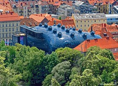 "The ""Friendly Alien"" Kunsthaus Graz Styria (Austria) (Mike Reichardt) Tags: architecture architektur graz styria austria österreich steiermark kunsthausgraz cityscape stadtbild reisen travel"