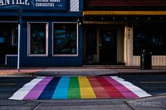 Colors of Expression (oterrason) Tags: crosswalk rainbow colors zebracrossing street streetscene gloverroad fortlangley britishcolumbia canada freedom expression installation publicart artwork