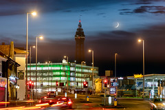 Crescent moon over Blackpool (Starman_1969) Tags: blackpool crescent lunar mecca moon talbot tower town
