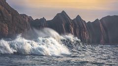 Fury (Jerzy Orzechowski) Tags: rea wind spain cantabria sky sunrise landscape rocks waves