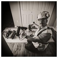 Honey-Do List (_Matt_T_) Tags: hdpdfa1530mmf28edsdmwr gloves selfie portrait dailyindecember hardhat glasses af540fgz apolloorb43 ppe worker 365 westcott cactusv6 tools bw