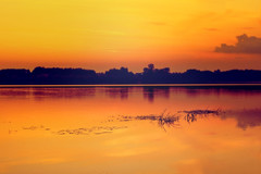 Sunset on the Wistula River (Poland) (bożenabożena) Tags: landscape river vistula sunset krajobraz rzeka wisła polska zachódsłońca