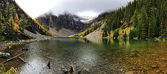 Lake Agnes, Banff, Alberta, Canada (BDFri2012) Tags: lakeagnes clouds cloudy stormy lake panorama banffnationalparkofcanada banff canada mountains reflection forest larch landscape water trees