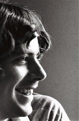 Portrait of a friend, Ellicott City, Maryland, 1980 (A CASUAL PHOTGRAPHER) Tags: portraits men profiles film analog like ambientlight minoltasrt101 kodak trix hippies ellicottcity howardcounty maryland