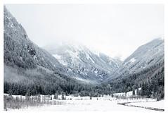 the valley (B. Blue) Tags: highkey österreich winter landschaft wald rohrmoos tal natur berg weihnachten bach weis steiermark austria christmas landscape nature styria wood mountain valley white