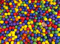 Luna Day 2251 (evaxebra) Tags: luna camouflage hiding ball pit ballpit balls hidden face theplayground playground san diego
