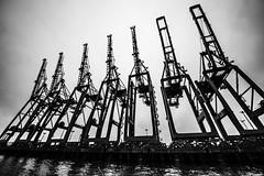 Hamburg0213 (schulzharri) Tags: hamburg hh hafen harbor haven deutschland germany europa europe ship boat wasser water kran crane industrial industrie steel stahl