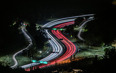 caldecott tunnel traffic (pbo31) Tags: oakland california eastbay alamedacounty night dark black color december 2019 season nikon d810 boury pbo31 lightstream motion traffic over highway 24 red roadway claremont grizzlypeakdrive