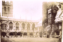 Christ Church College, Oxford, 1896 (Auparavant) Tags: 1896 angleterre moreauhonoré oxford england christchurchcollege cloister
