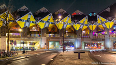 Rotterdam, Netherlands: Cube Houses (nabobswims) Tags: cubehouses enhanced ilce6000 lightroom luminositymasks mirrorless nl nabob nabobswims netherlands night nightfoto photoshop rotterdam sel18105g sonya6000 zuidholland