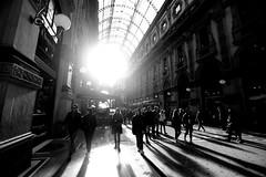 Long shadows (carlo612001) Tags: monochrome milano galleria biancoenero blackandwhite longshadows
