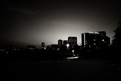 untitled (ChrisRSouthland (mostly off, traveling & working)) Tags: darwin griii ricohgriii dusk lastlight highrise bw blackandwhite monochrome schwarzweiss