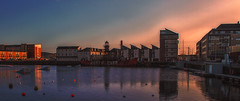 setting sun (johnny_9956) Tags: dundee scotland uk canon 7d outside outdoor water boat sunset buildings quayside ship