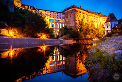 The High Road (dlerps) Tags: cz ceskykrumlov amount photography czech sony eu czechrepublic lerps sonyalpha europeeuropa daniellerps sonyalpha99ii sonyalphaa99ii lerpsphotography sonyalphaa99mark2 httplerpsphotography longexposure castle night evening palace bluehour fortress carlzeiss castlebridge nauticaltwilight reflection water river dawn lights dusk vltava státníhradazámekčeskýkrumlov distagon2420za distagont224 statecastleandchateaučeskýkrumlov carlzeissdistagon24mmf20