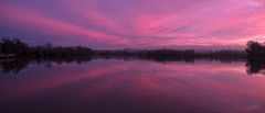 Pink after sunset (Peter Leigh50) Tags: sky skyscape water reflection reflections evening winter sunset pink trees hills landscape landschaft saddington reservoir building boathouse leicestershire fujifilm fuji xt2 rural countryside