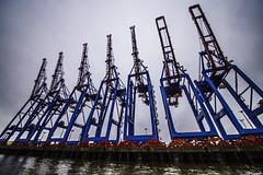 Hamburg0212 (schulzharri) Tags: hamburg hh hafen harbor haven deutschland germany europa europe ship boat wasser water kran crane industrial industrie steel stahl