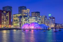 Rotterdam (vanregemoorter) Tags: rotterdam city cityscape bluehour building light
