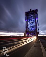 Newport Bridge (peterrichardphotography) Tags: newport bridge middlesbrough newportbridge canon itsoknottobeok rivertees tees teesside lighttrails longexposure