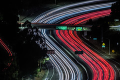 24 overpass (pbo31) Tags: oakland california eastbay alamedacounty night dark black color december 2019 season nikon d810 boury pbo31 lightstream motion traffic over highway 24 red roadway claremont grizzlypeakdrive
