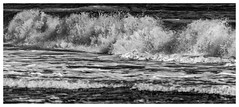 Breaking Waves (Nick Thorne, Bodian Photography) Tags: 2019 blackwhite bogglehole bybodianphotography bynickthorne england flickr geographicalfeatures holiday northyorkmoors panorama sea shape themed waves yorkshire