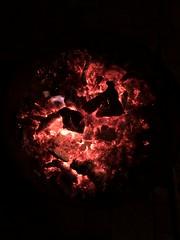 Earth on fire or campfire? (ANBerlin [Ondré]) Tags: nacht night abends evening drausen outdoor ländlich rural fotografie photography ausergewöhnlich extraordinary struktur structure abstrakt abstract natur nature landschaft landscape küste coast ostsee balticsea hitze heat glüht glows glühen glowing glut embers lagerfeuer campfire feuer fire deutschland germany mecklenburgvorpommern meckpomm rügen kaparkona juliusruh anb030 shotoniphone iphotography iphonography 8plus iphone8 iphone apple