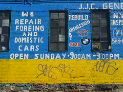 Foreing and domestic cars (drager meurtant) Tags: foreing domestic cars writing ontthewall bronx new york dragermeurtant