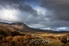 You have to have rain to get a rainbow. (lawrencecornell25) Tags: rainbow landscape scenery scotland skye scenic nature outdoors travel adventure kilchrist mountain clouds isleofskye nikond850