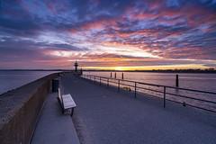 Travemuende Sunrise (with making of) (Duke.Box) Tags: sunrise skyporn sony sonya7iii travemuende see ostsee hafen leuchtturm molenfeuer