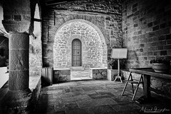 The Monastery (Alfred Grupstra) Tags: blackandwhite architecture old indoors oldfashioned history nopeople church chair window cultures builtstructure antique obsolete house retrostyled architectureandbuildings stonematerial dark
