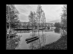 Reflections 02-Pano (mini-b) Tags: tonbridge floods christmas 2019 blackwhite monochrome reflections racecoursesportsground sportsground luminar2018 aurorahdr2018 canon eos5dmkiv ef24105mm14lisusm ef1635mm128liiusm