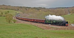 Yorkshire Coronation (paul_braybrook) Tags: 46233 6233 duchessofsutherland coronationclass lms pacific steamlocomotive kirkhamabbey scarborough northyorkshire railtour railway trains