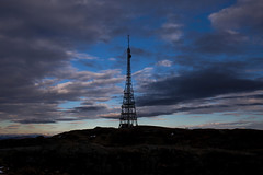 The Radio Tower (Siggi007 - Offline until mid-January) Tags: tower signals connection tv mountains view clouds silhouette silhouettes peak people hiking sky black contrasts canoneos6d radio nature landscape paysage mood outdoors abend landschaft colors blue norway norwegen natur mountain winter snow cold shadows
