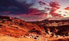 """Twilight Breaking - the Wave"" Arizona (modsseny) Tags: arizona wave rock ormation blue sky"