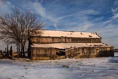 Rushville Grey Barn and Blue Sky (markburkhardt) Tags: