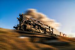 _DSC1336 Speeding Pere Marquette (Charles Bonham) Tags: peremarquette1225 polarexpress1225 train steamengine motionblur laowazerod12mmf28 sonya7rll charlesbonhamphotography hss pan panning