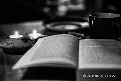 still life ... (andrealinss) Tags: blackandwhite bw schwarzweiss detail availablelight kerze candle bougie andrealinss 35mm book buch livre