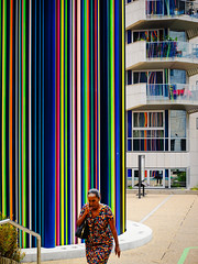 Colors in the City. (kitchou1 Thanx 4 UR Visits Coms+Faves.) Tags: exterior summer art color paris street people architecture city europe france world