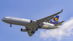 """Lufthansa Cargo McDonnell Douglas MD11F D-ALCH """"¡Buenos días México!"""" Bangalore (BLR/VOBL) (Aiel) Tags: lufthansa lufthansacargo mcdonnelldouglas md11 md11f dalch ¡buenosdíasméxico bangalore bengaluru canon60d"""