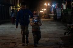~Brotherhood~ (Lenzmaan) Tags: kids brotherhood night lights mobile walk nikon nepal