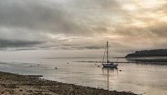 Approaching mist (judmac1) Tags: weather mist bay boat mooring findhorn coast scotland moray water shore