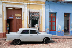 Casa Mimi (emerge13) Tags: architecture candid colonialarchitecture cuba people streets trinidad trinidadsanctispirituscuba architecturaldetails carsofcuba classiccars cobblestonestreets colorfulcities oldcars street vintagecars human humans peugeot4041960 peugeot