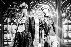 as impersonal as today's consumerism (* Jernej *) Tags: blackandwhite text signage bw monochrome street art streetart timeless time shadow black light white shop fashion