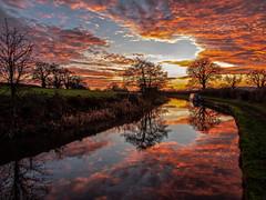 End of year Sunset (Fin Wright) Tags: ianwright 2019 blip finwrightphotographycouk llangollencanal canal shropshireunioncanal water sunset sky drama reflection shropshire reflections orange ellesmere