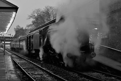 A4 Mono (Derbyshire Harrier) Tags: 60009 lnera4class462no60009unionofsouthafrica bury eastlancashirerailway 2019 winter december monochrome railway steamengine preservedline longexposure