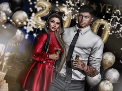 MC & Zane (Jessa ♥) Tags: secondlife second life sl virtual photo photography 3d digital nye new years eve year holiday cocktail party 2020 champagne happy couple couples